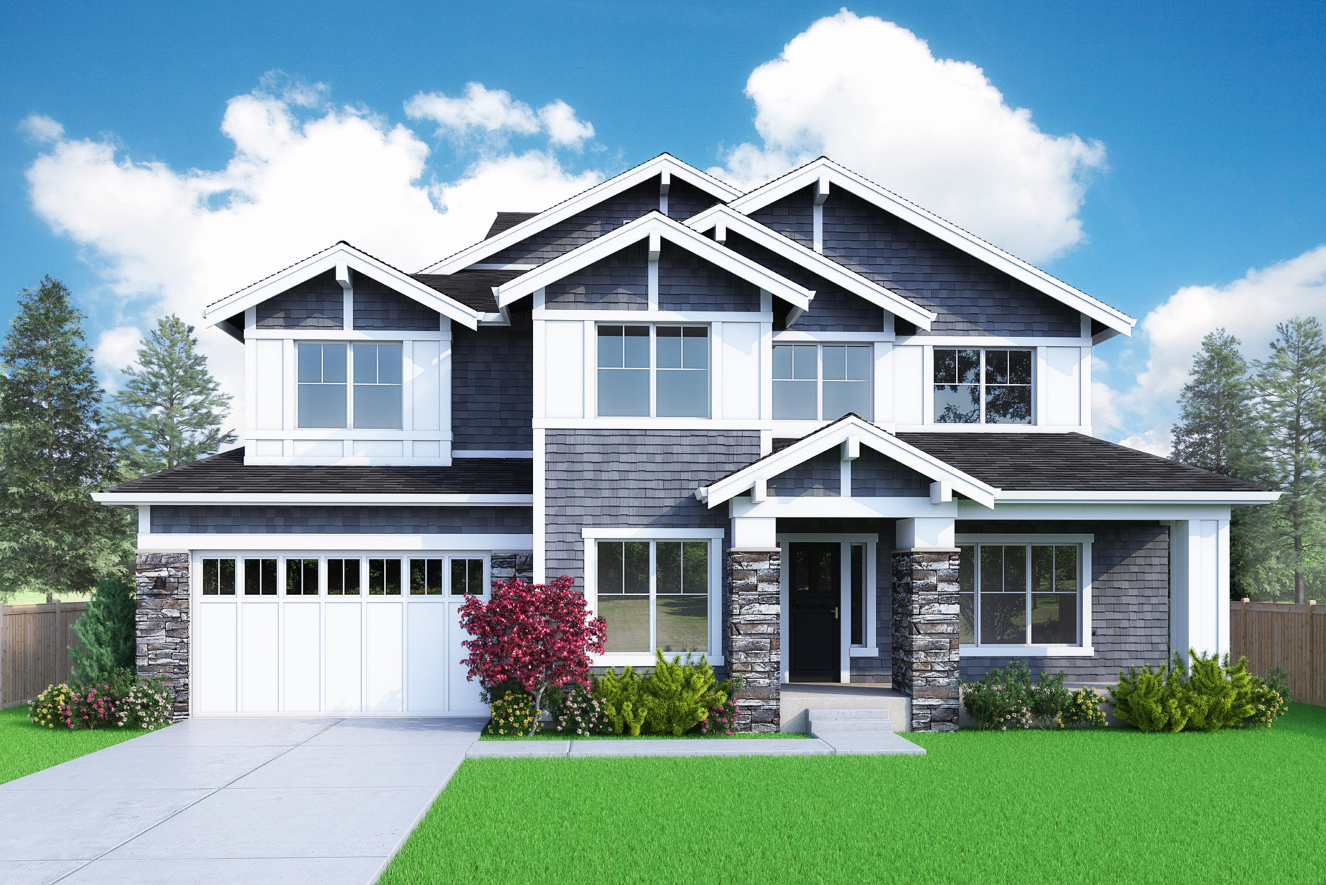 View our new luxury home construction on 4018 142nd AVE SE, Bellevue, WA from MN Custom Homes