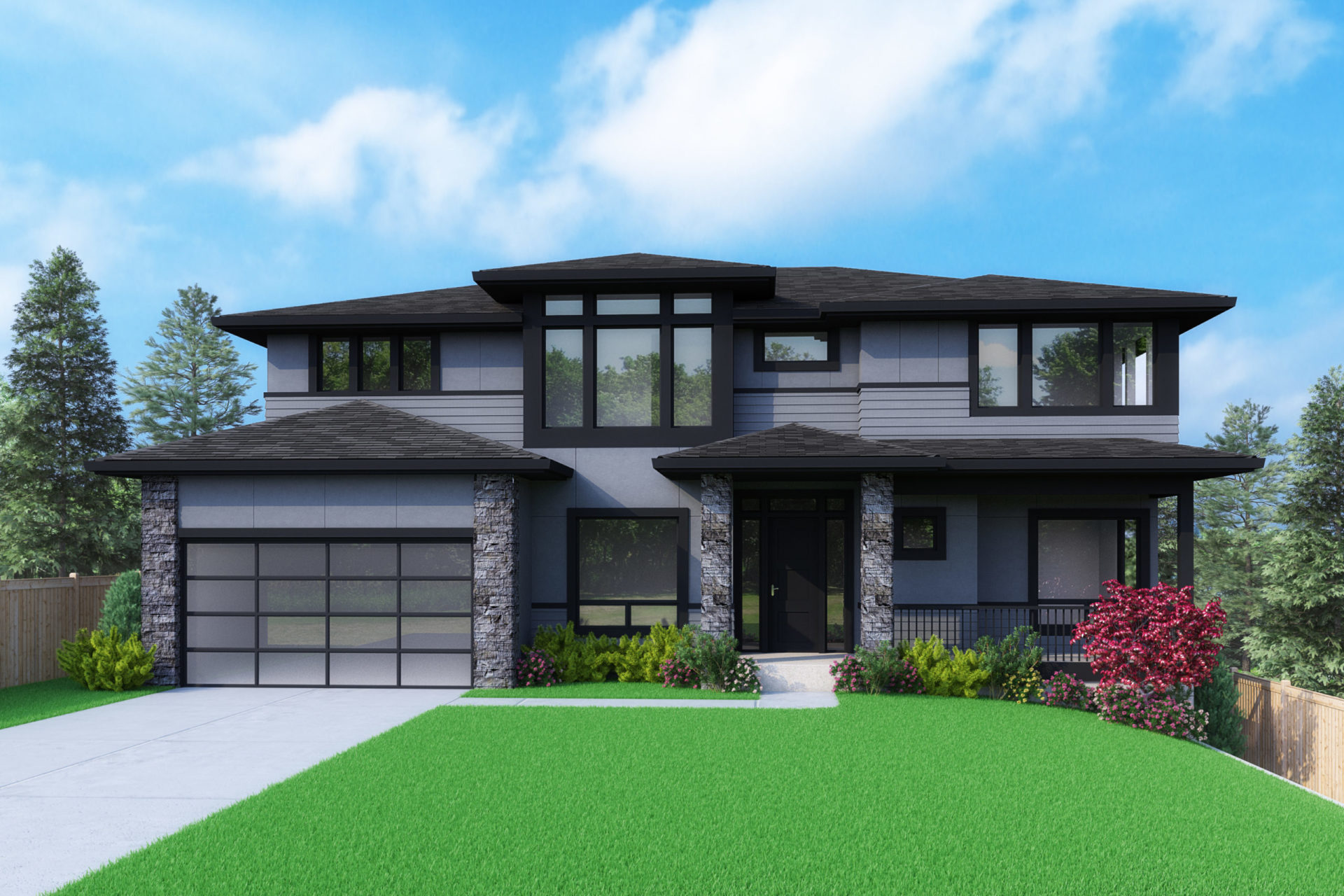 View our new luxury home construction on 3848 120th Ave SE, in Bellevue, WA from MN Custom Homes