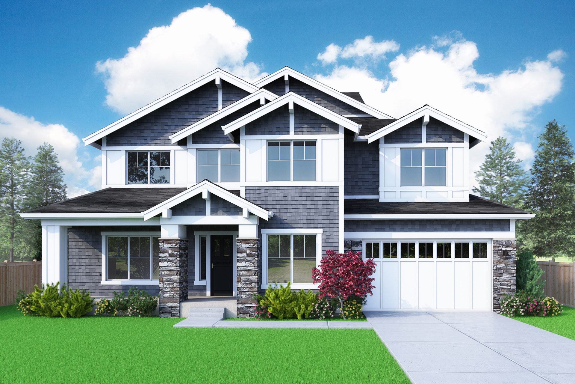 View our new luxury home construction on 13938 NE 4th CT, in Bellevue, WA from MN Custom Homes