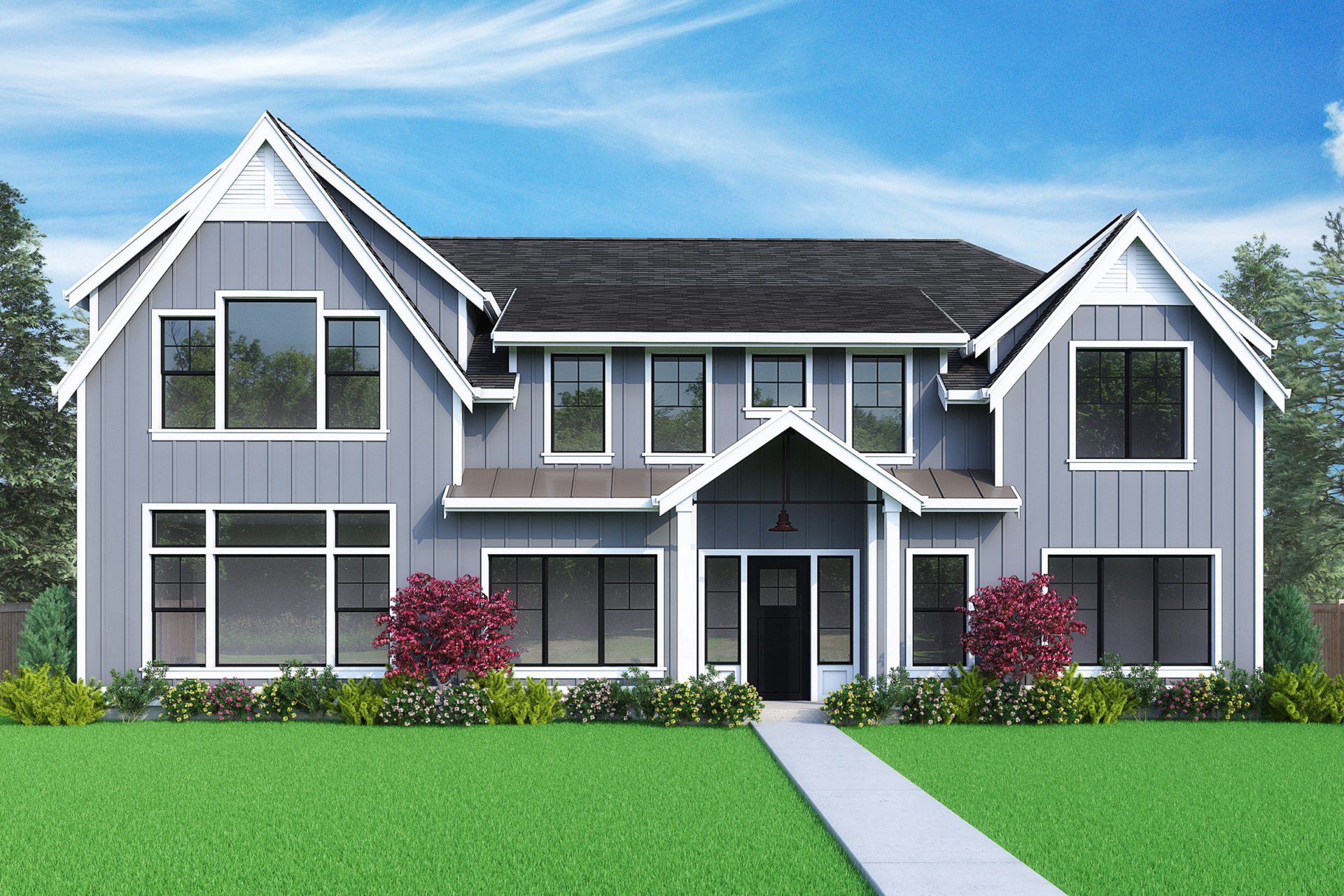 View our new luxury home construction on 12993 SE 7th Pl, in Bellevue, WA from MN Custom Homes