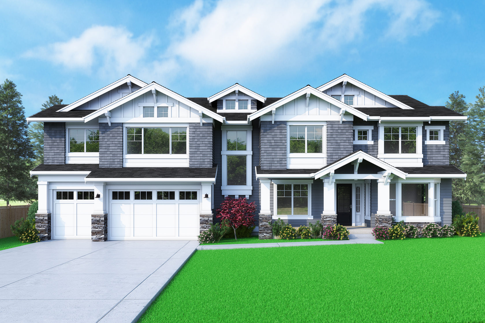 View our new luxury home construction on 2126 104th PL SE, in Bellevue, WA from MN Custom Homes