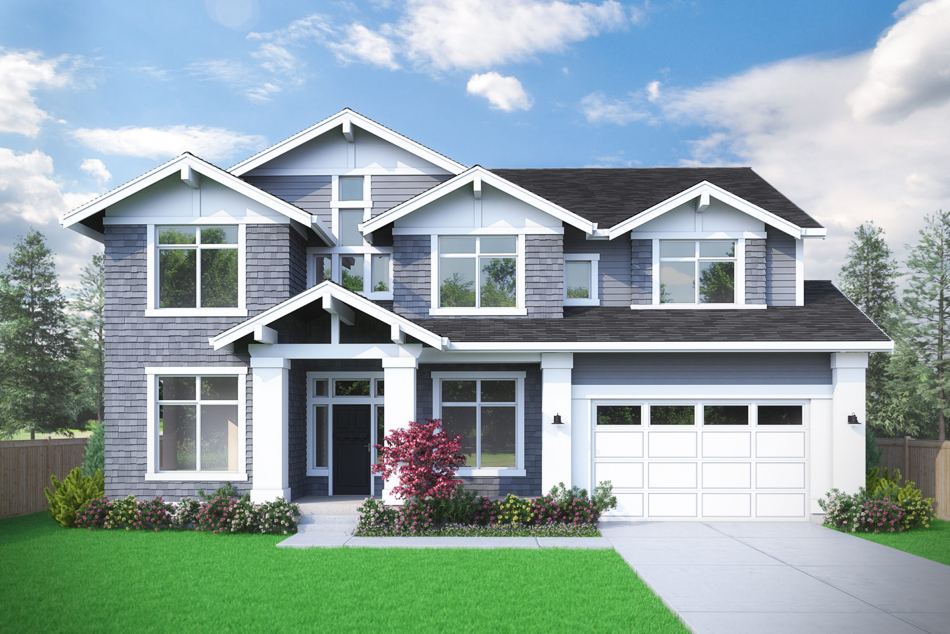 View our new luxury home construction on 14257 SE Eastgate Dr, in Bellevue, WA from MN Custom Homes
