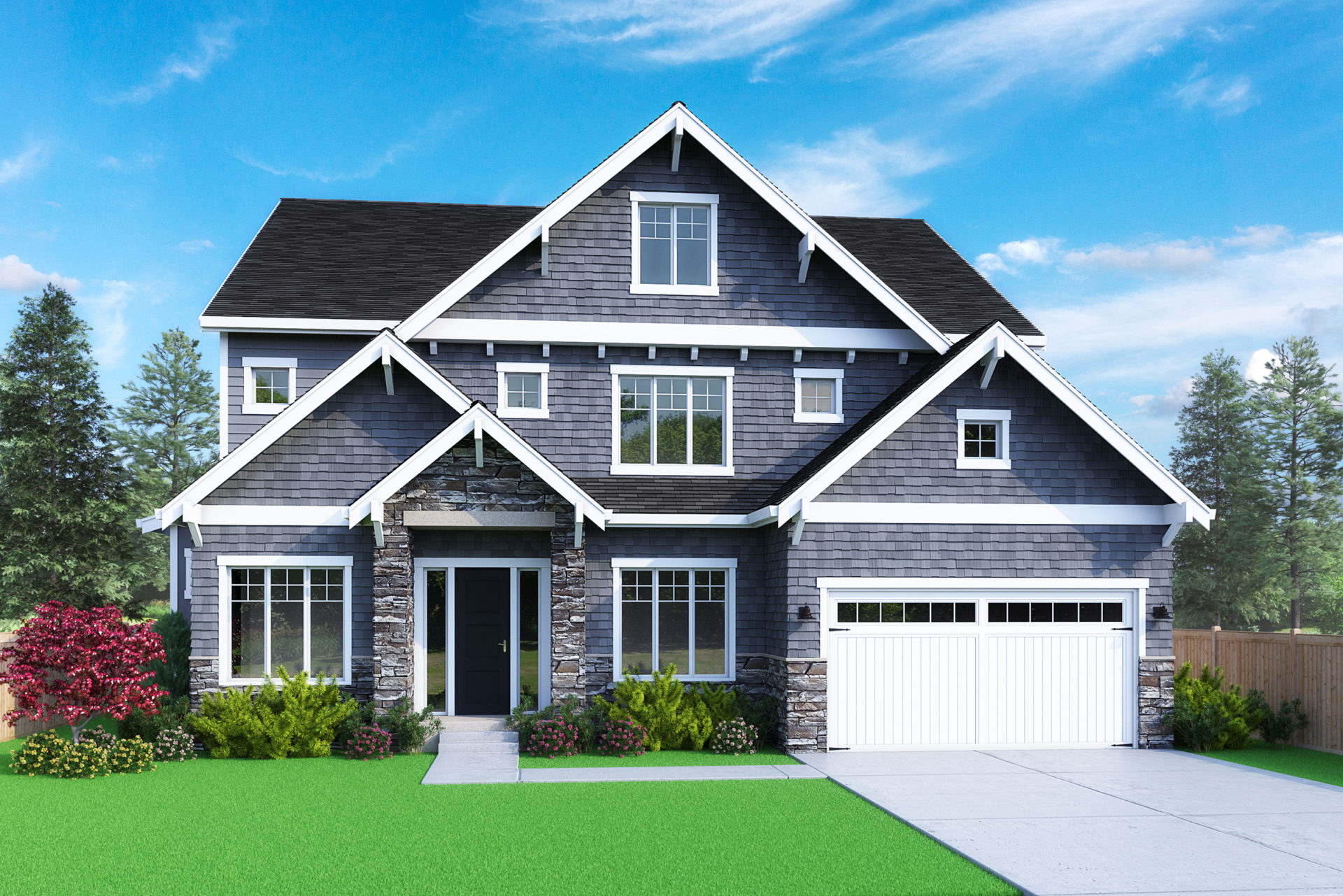 View our new luxury home construction on 538 128th Ave SE, in Bellevue, WA from MN Custom Homes