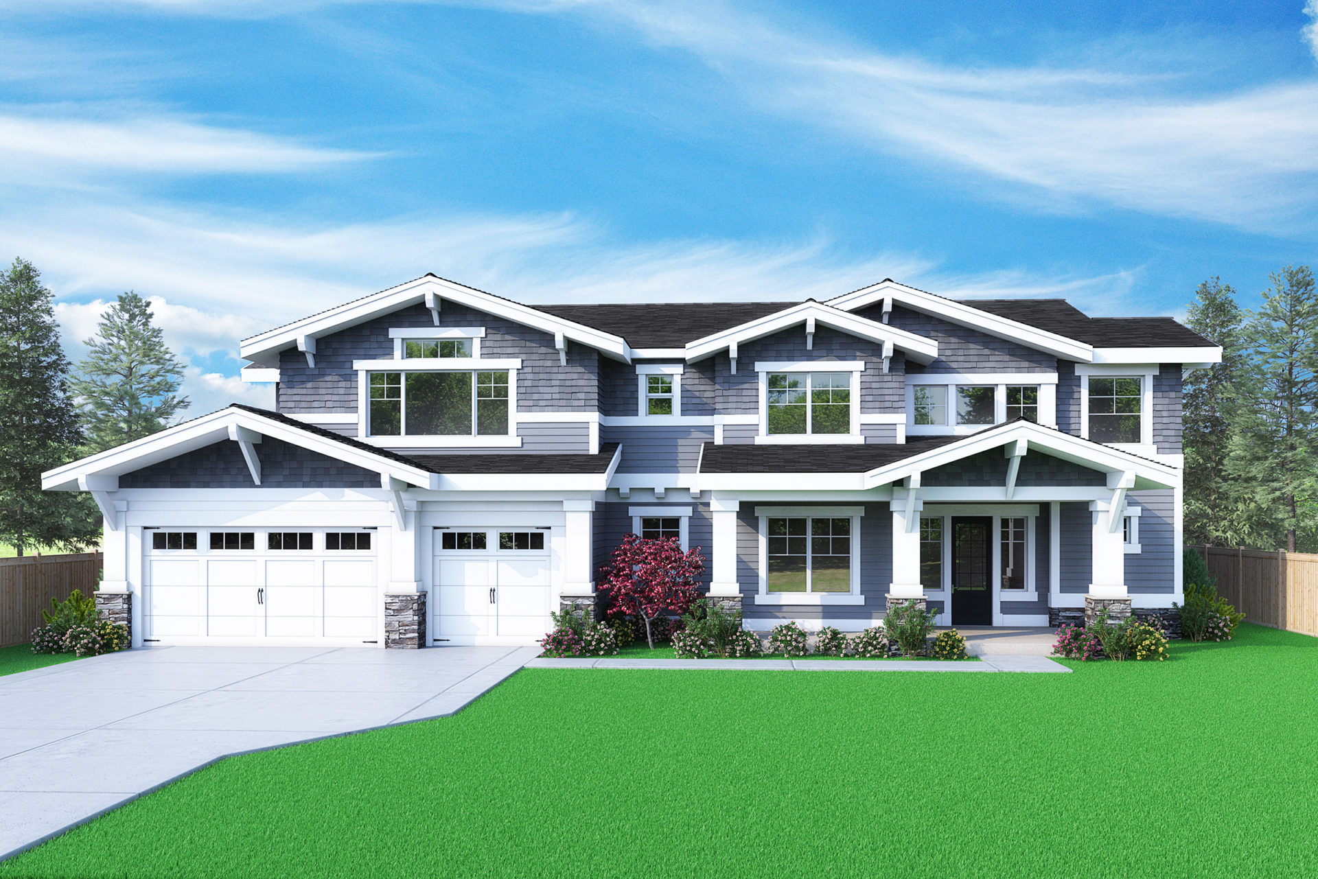 View our new luxury home construction on 2480 155th PL SE, in Bellevue, WA from MN Custom Homes