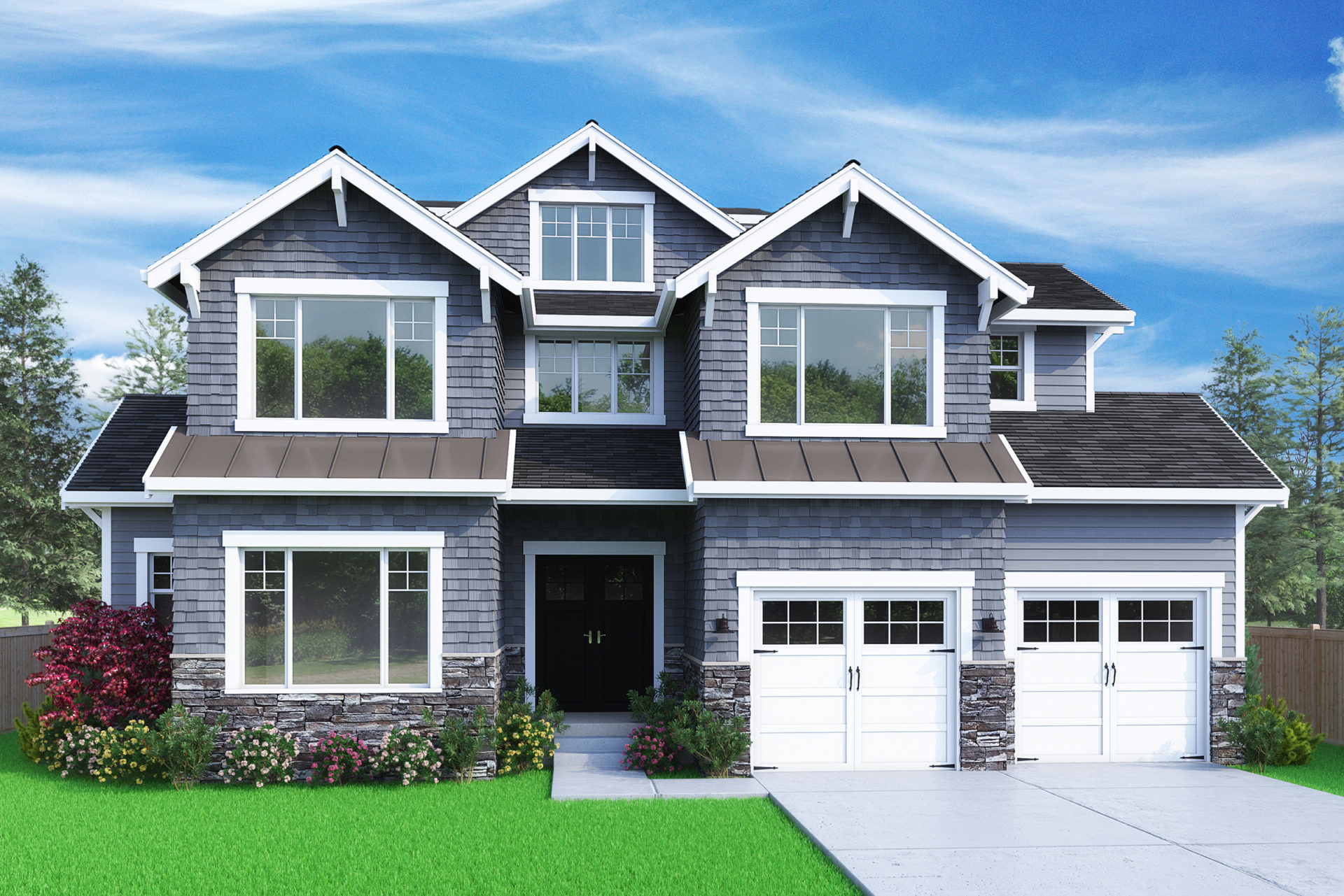 View our new luxury home construction on 31645 105th Ave SE in Bellevue, WA from MN Custom Homes