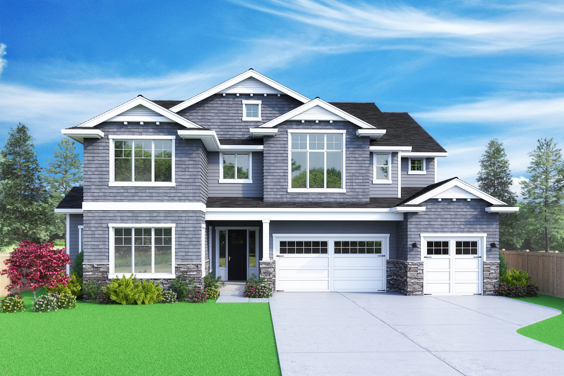 View our new luxury home construction on 5239 117th Ave SE, in Bellevue, WA from MN Custom Homes