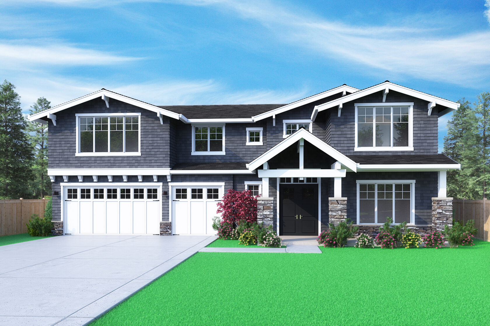View our new luxury home construction on 12601 SE 4th Pl, in Kirkland, WA from MN Custom Homes