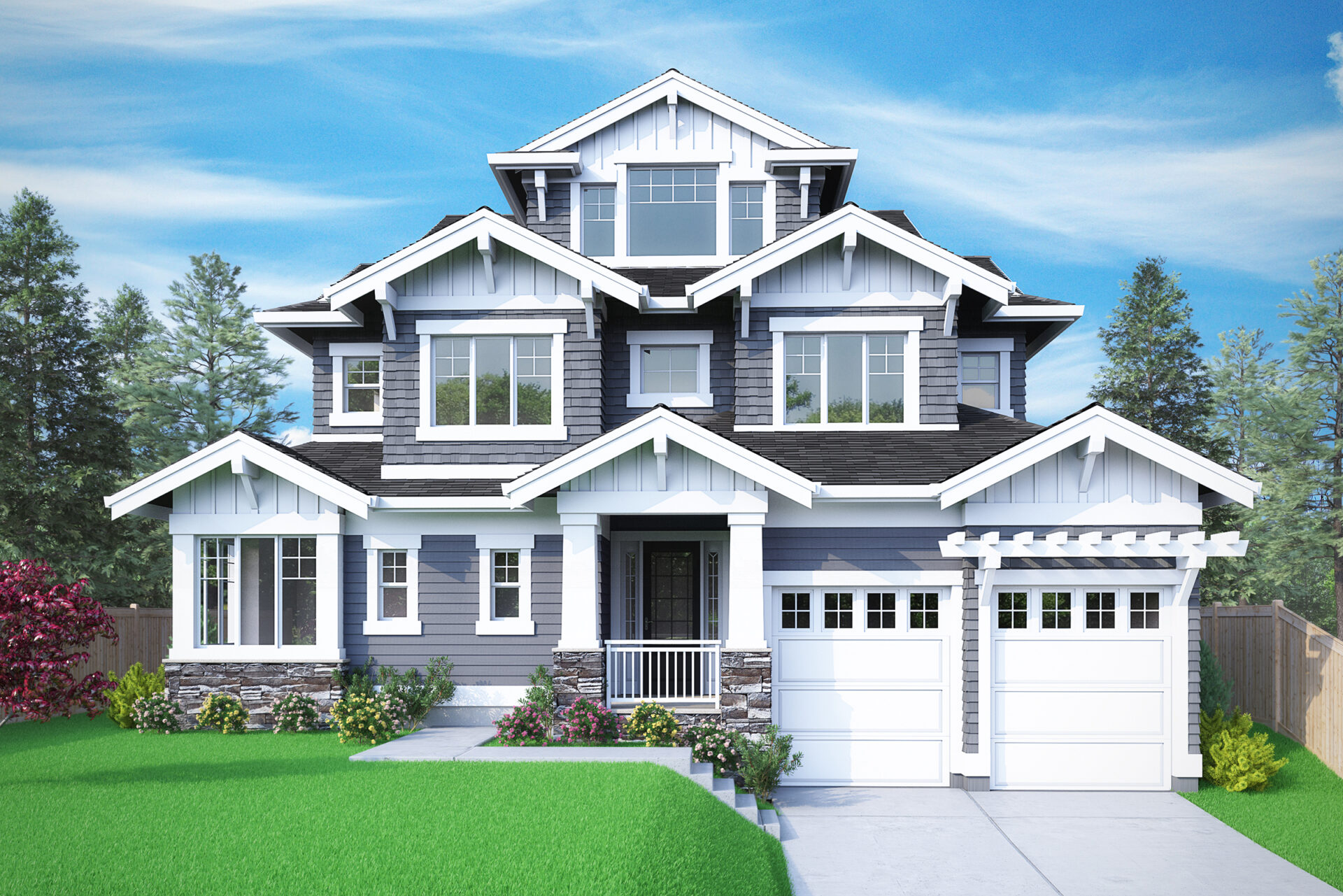 View our new luxury home construction on 10633 NE 18th St, in Bellevue, WA from MN Custom Homes