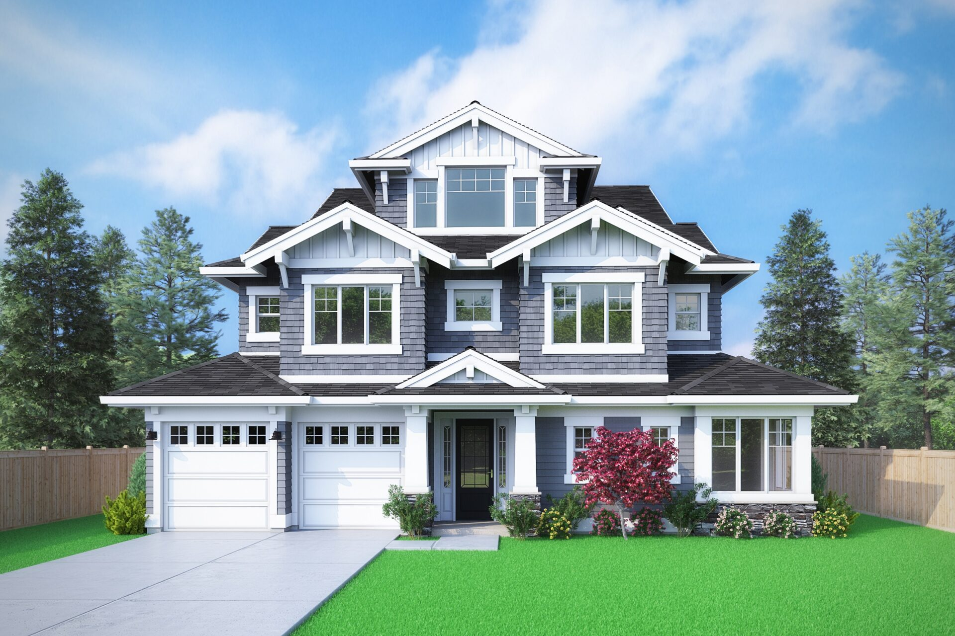 View our new luxury home construction on 16415 SE 37th CT, in Bellevue, WA from MN Custom Homes