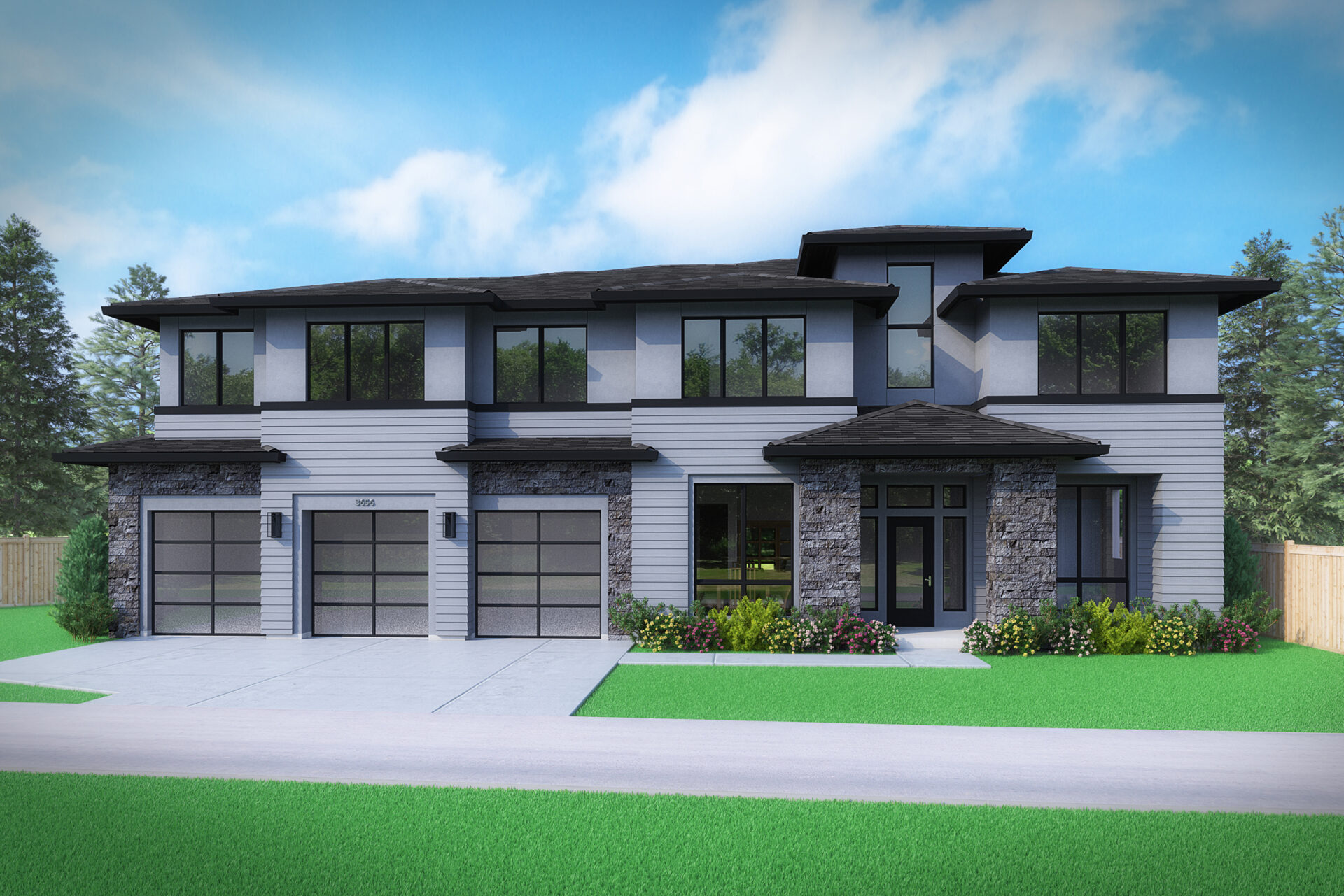 View our new luxury home construction on 16439 SE 37th Ct, in Bellevue, WA from MN Custom Homes