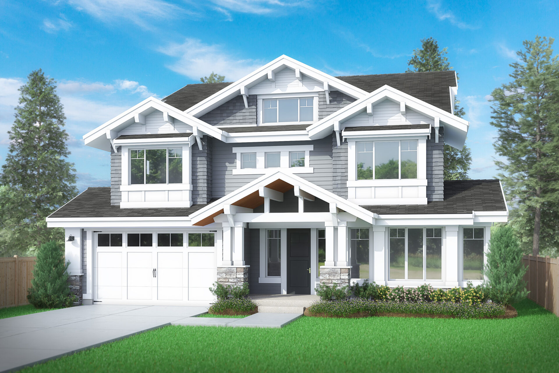 View our new luxury home construction on 10233 NE 23rd St, in Bellevue, WA from MN Custom Homes
