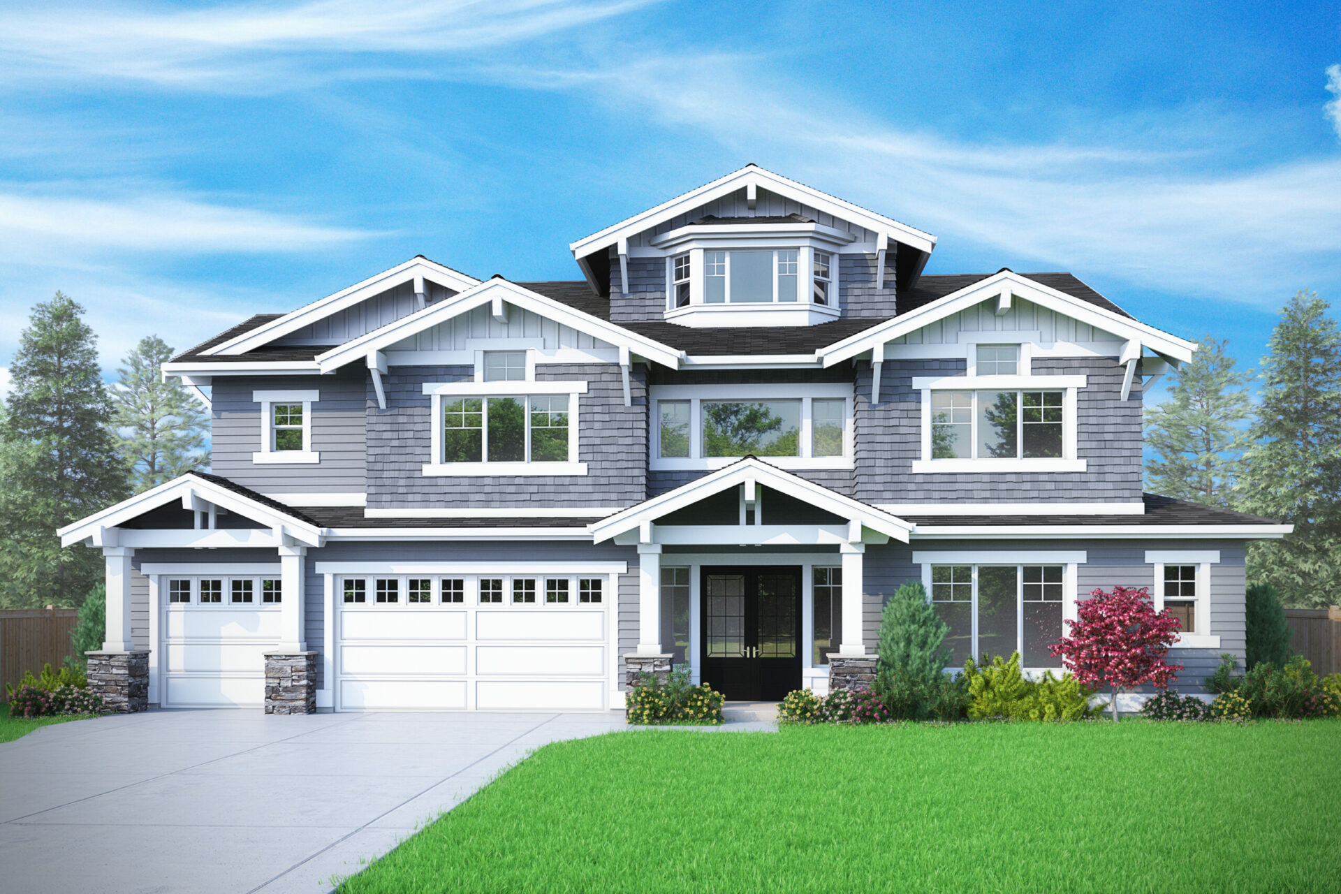 View our new luxury home construction on 3029 106th Ave SE in Bellevue, WA from MN Custom Homes