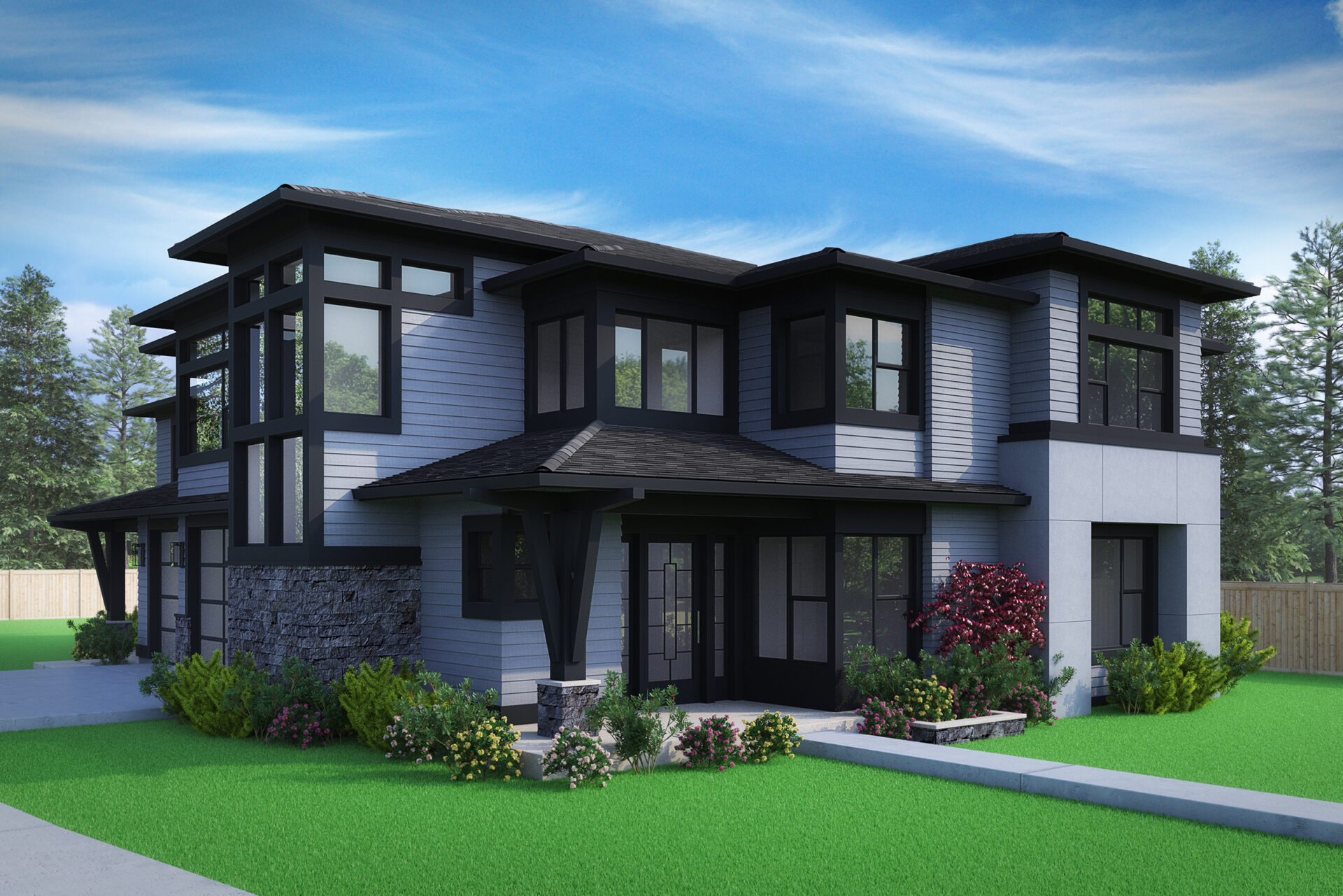 View our new luxury home construction on 2210 108th Ave SE, in Bellevue, WA from MN Custom Homes