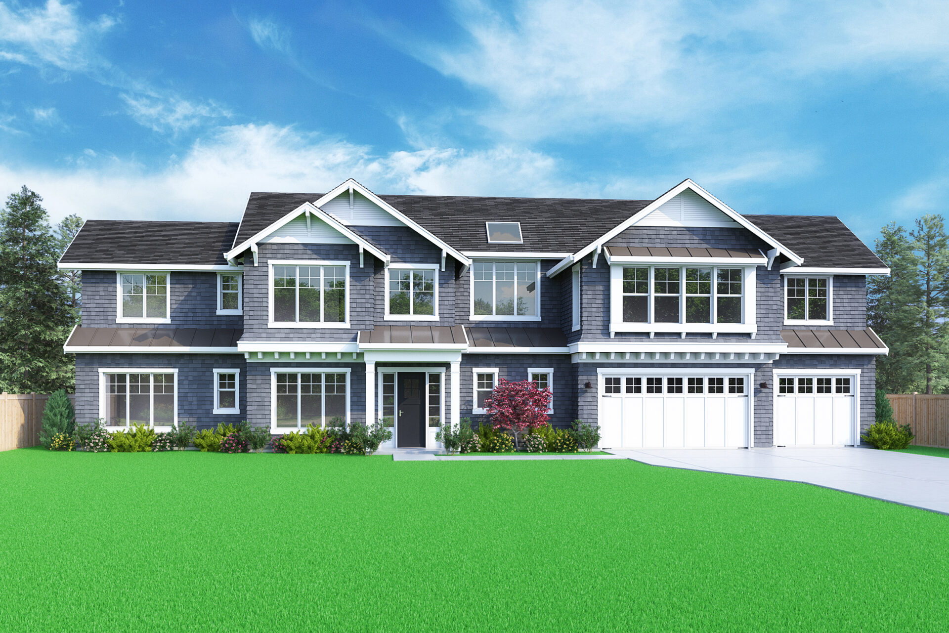 View our new luxury home construction on 15000 SE 44th St, in Bellevue, WA from MN Custom Homes