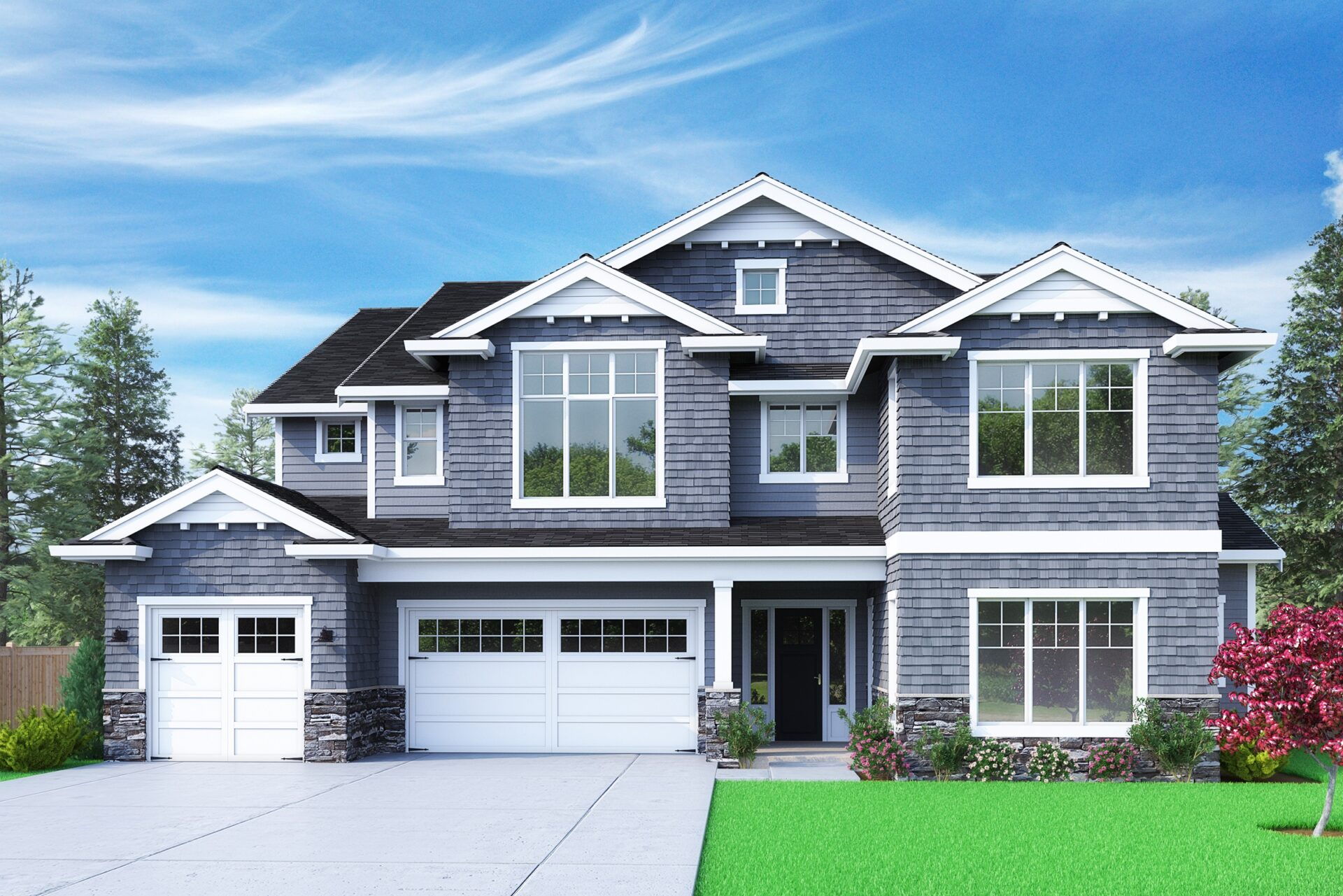 View our new luxury home construction on 1823 153rd Ave SE, in Bellevue, WA from MN Custom Homes