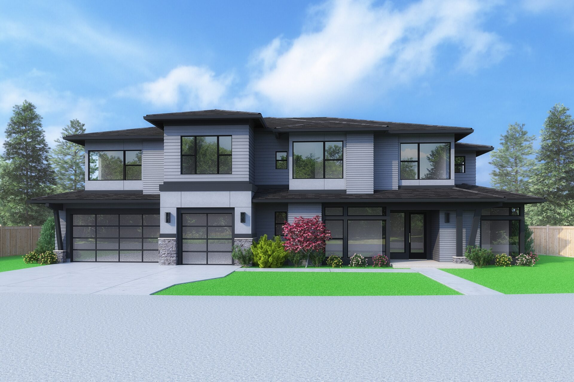 View our new luxury home construction on 5645 118th Ave SE, in Bellevue, WA from MN Custom Homes