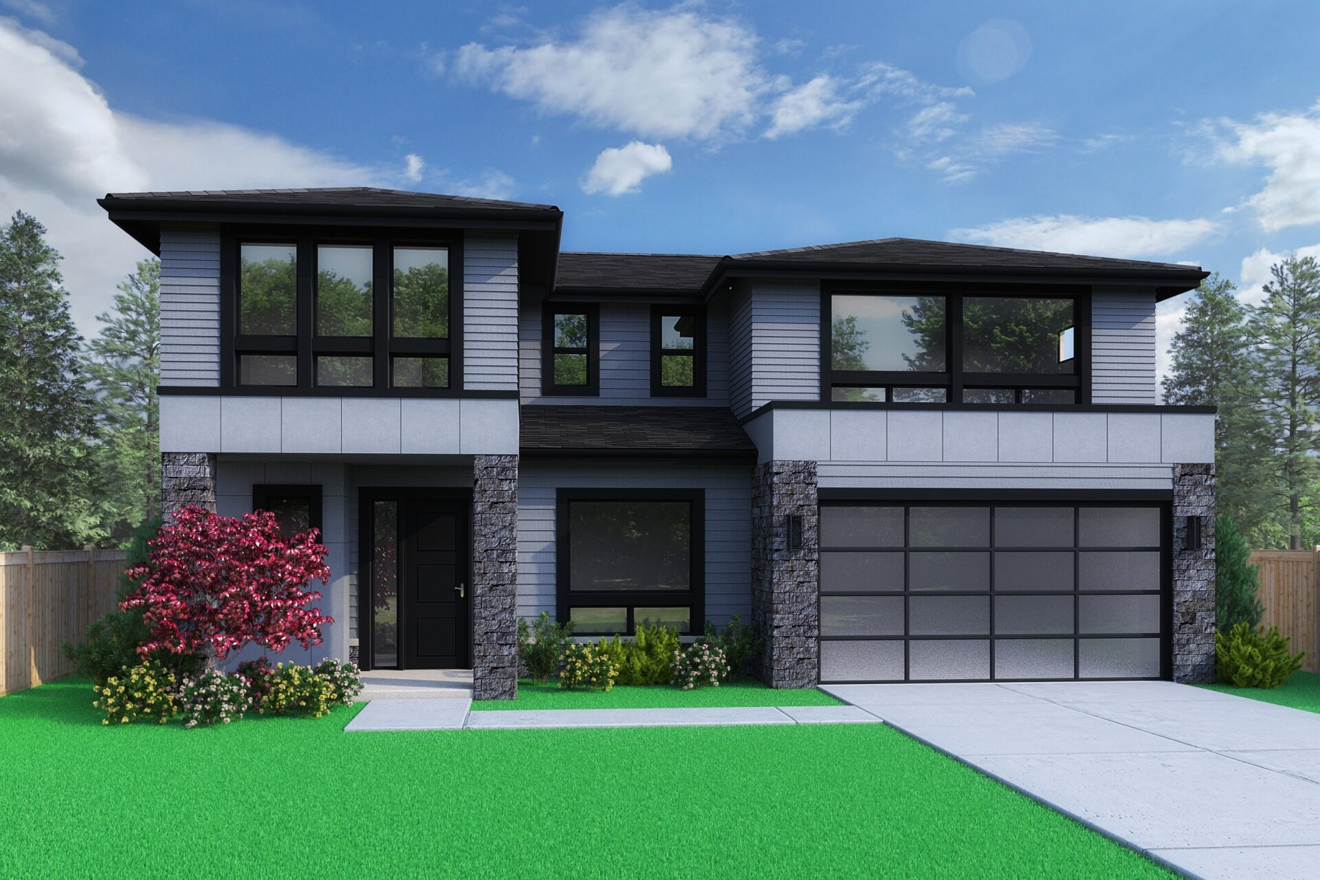 View our new luxury home construction on 11008 NE 64th St, in Kirkland, WA from MN Custom Homes