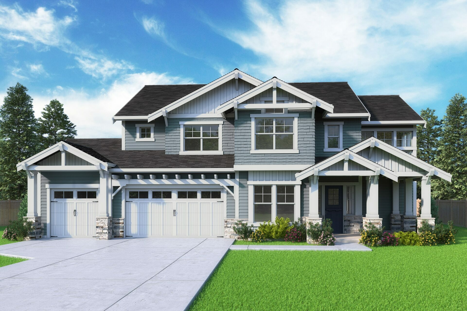 View our new luxury home construction on 9046 SE 61st St, in Mercer Island, WA from MN Custom Homes