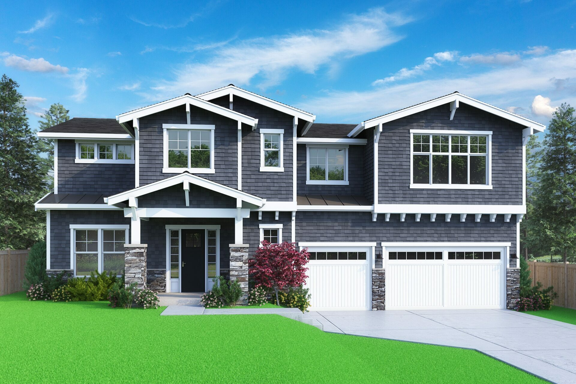 View our new luxury home construction on 12859 NE 91st St, in Kirkland, WA from MN Custom Homes