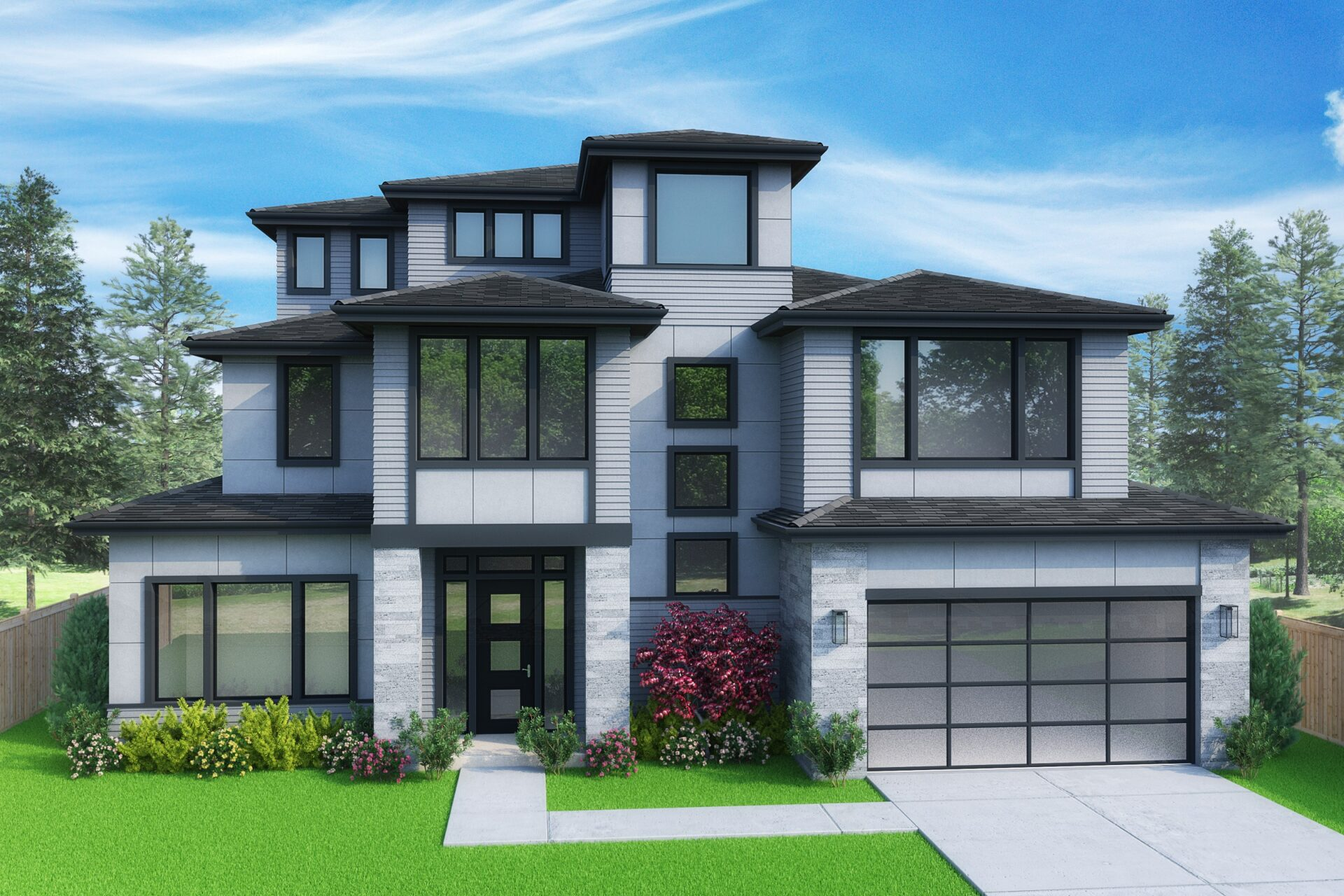 View our new luxury home construction on 602 129th AVE SE, in Bellevue, WA from MN Custom Homes
