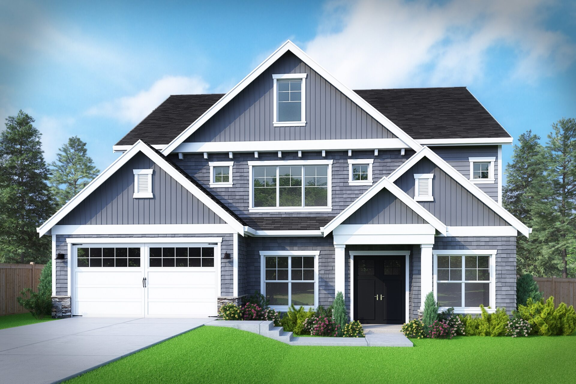 View our new luxury home construction on 12601SE4th Pl, in Bellevue, WA from MN Custom Homes