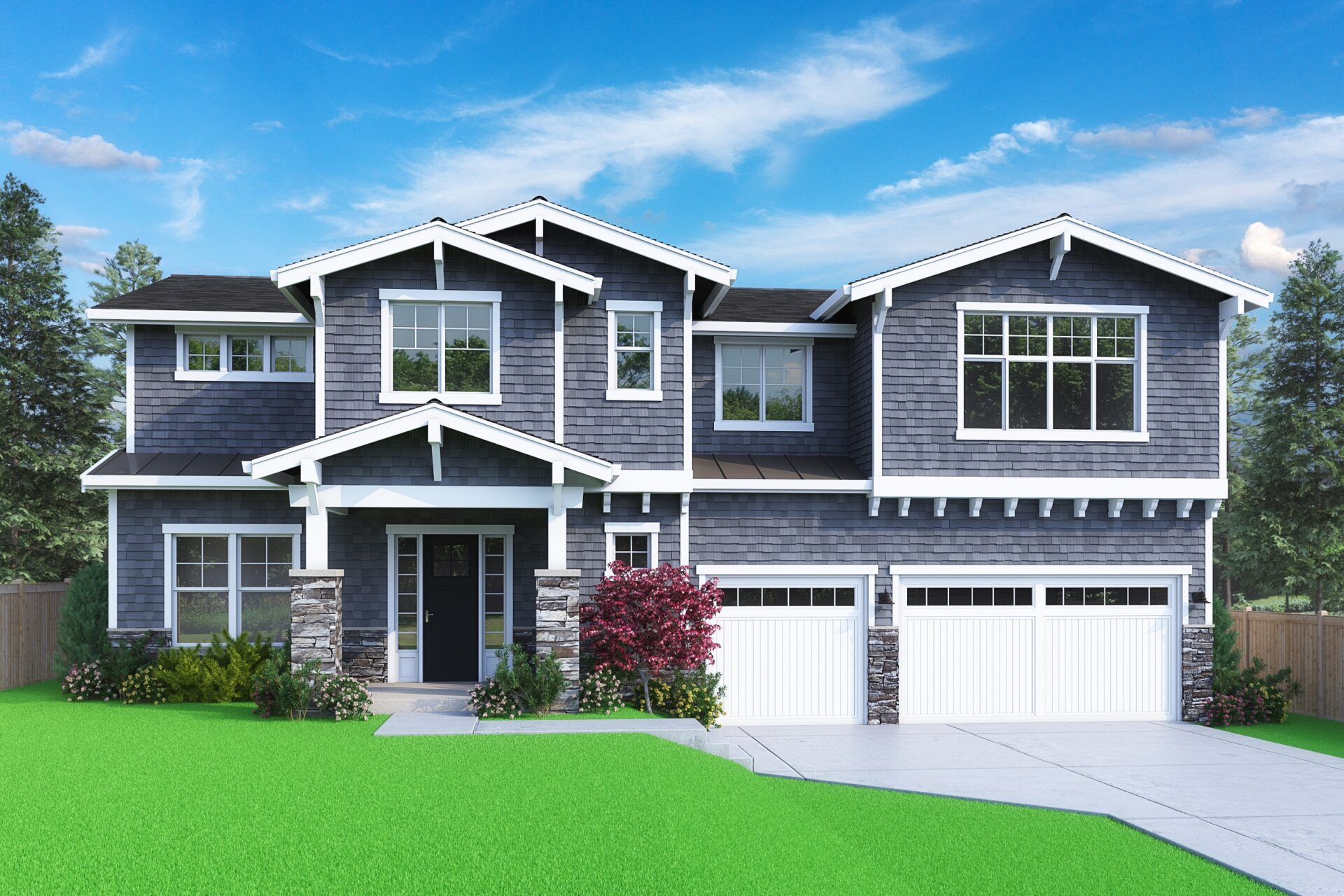 View our new luxury home construction on 11413 109th Ave NE, in Kirkland, WA from MN Custom Homes
