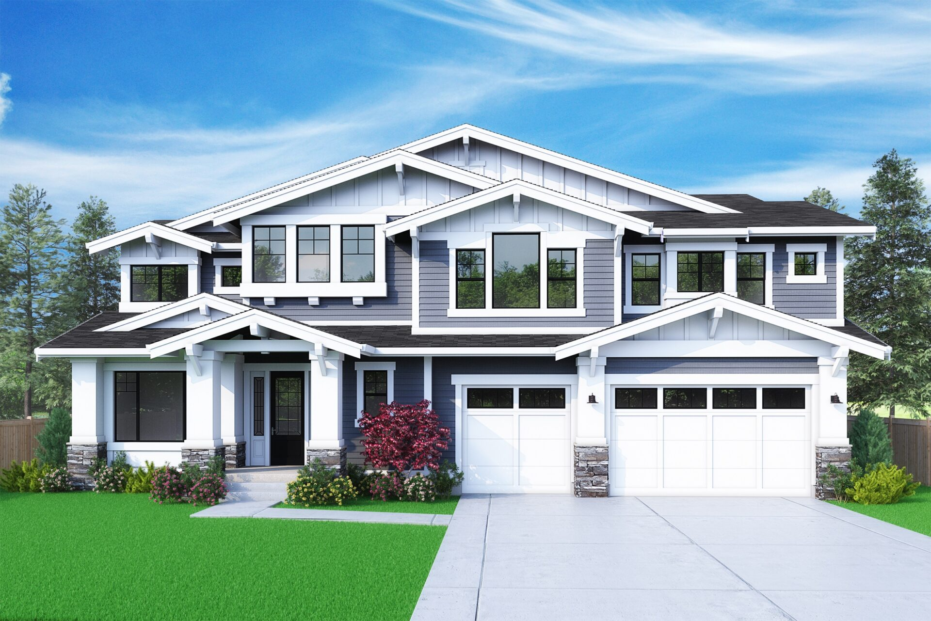 View our new luxury home construction on 1236 166th Ave SE, in Bellevue, WA from MN Custom Homes