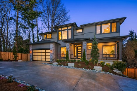 Example of a Transitional Home - Built by MN Custom Homes