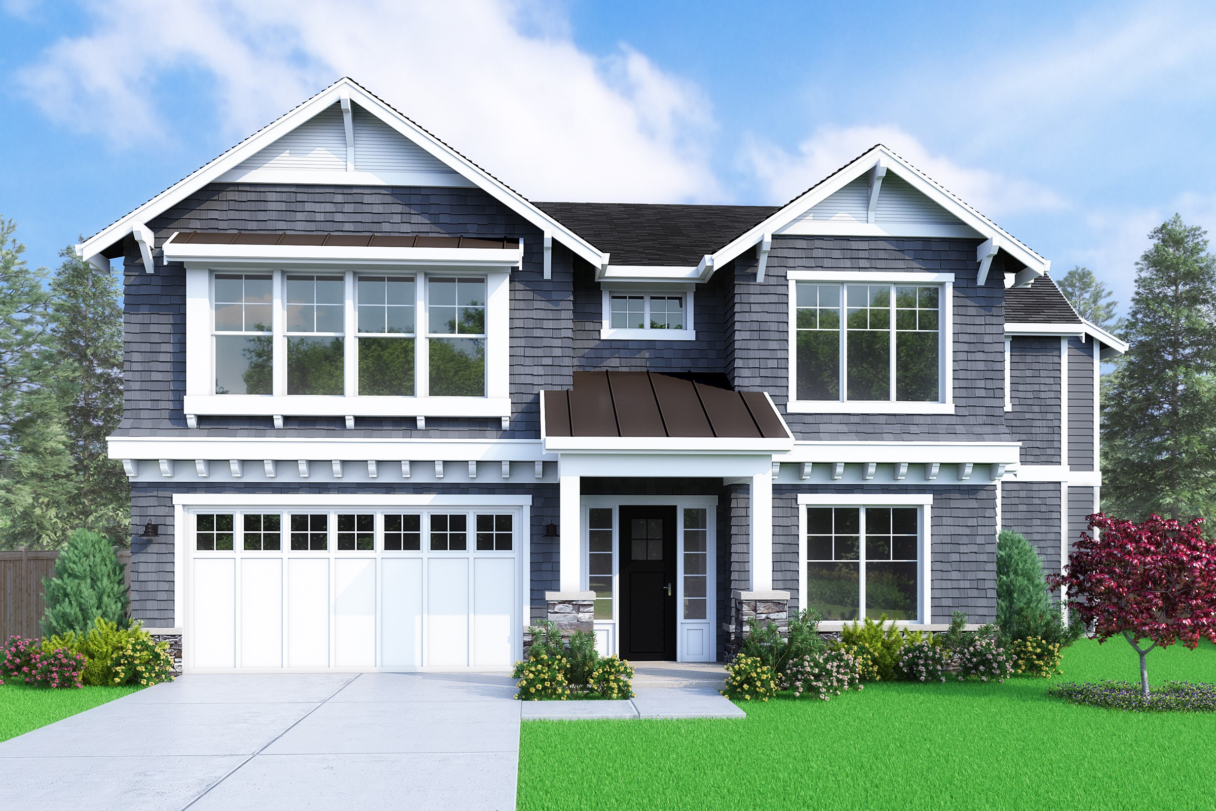 View our new luxury home construction on 16266 NE 1st St, in Bellevue, WA from MN Custom Homes
