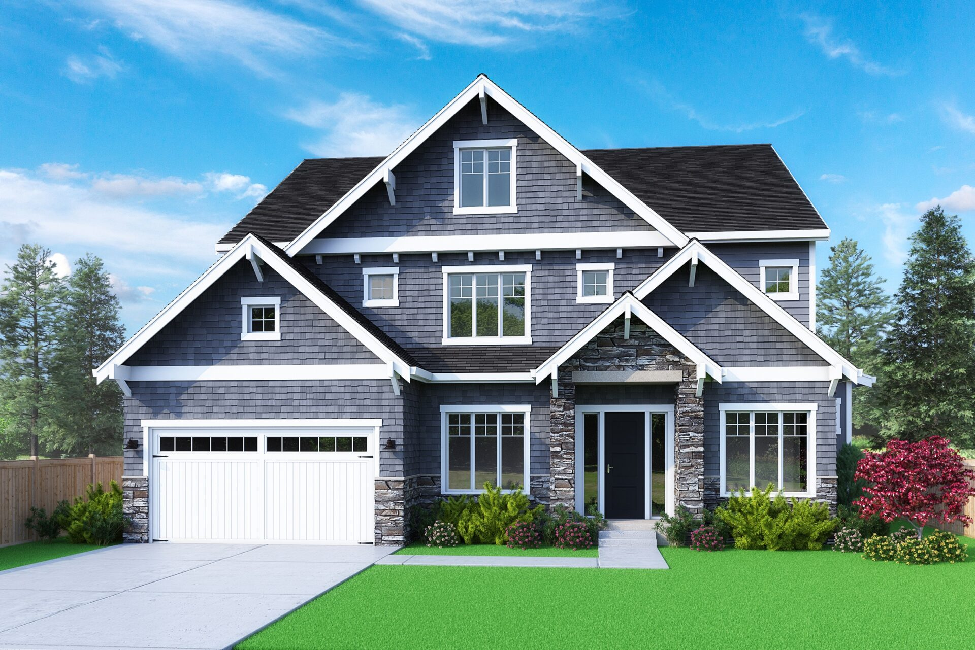 View our new luxury home construction on 4121 152nd Ave SE in Bellevue, WA from MN Custom Homes