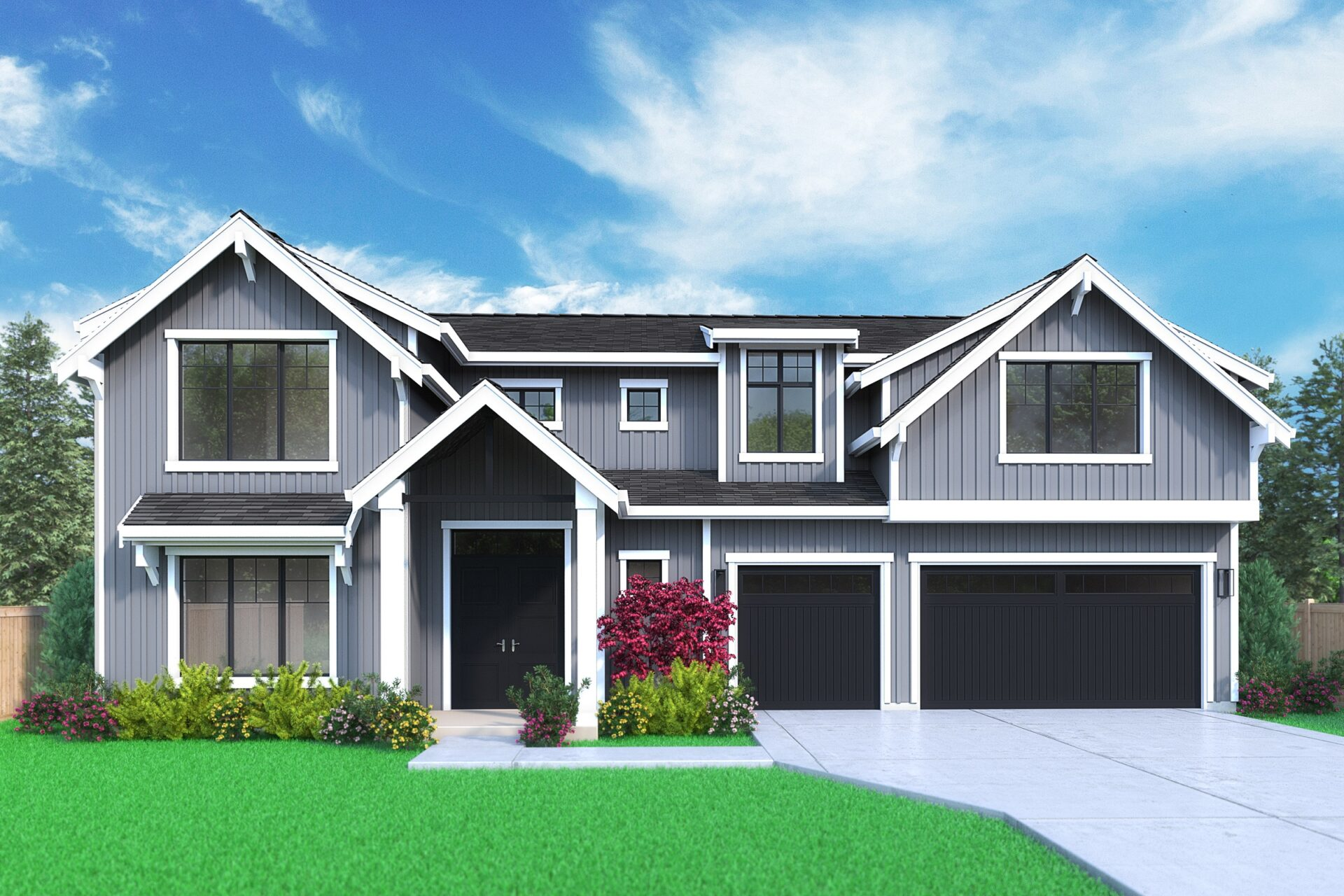 View our new luxury home construction on13025 NE 112th St, in Kirkland, WA from MN Custom Homes