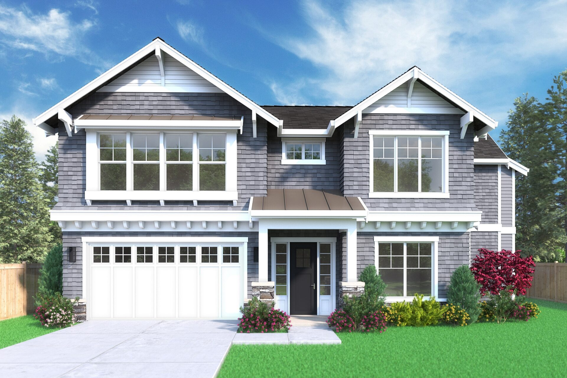 View our new luxury home construction on 1703 172nd Ct NE, in Bellevue, WA from MN Custom Homes