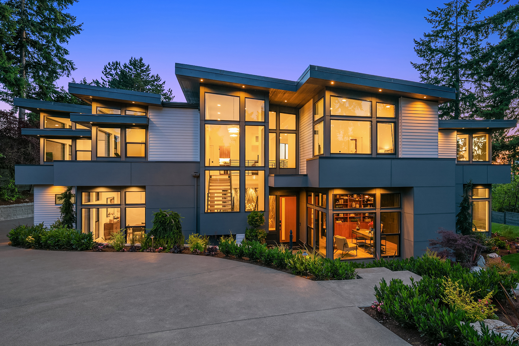View our new luxury home construction on 2659 90th Ave NE in Bellevue, WA from MN Custom Homes