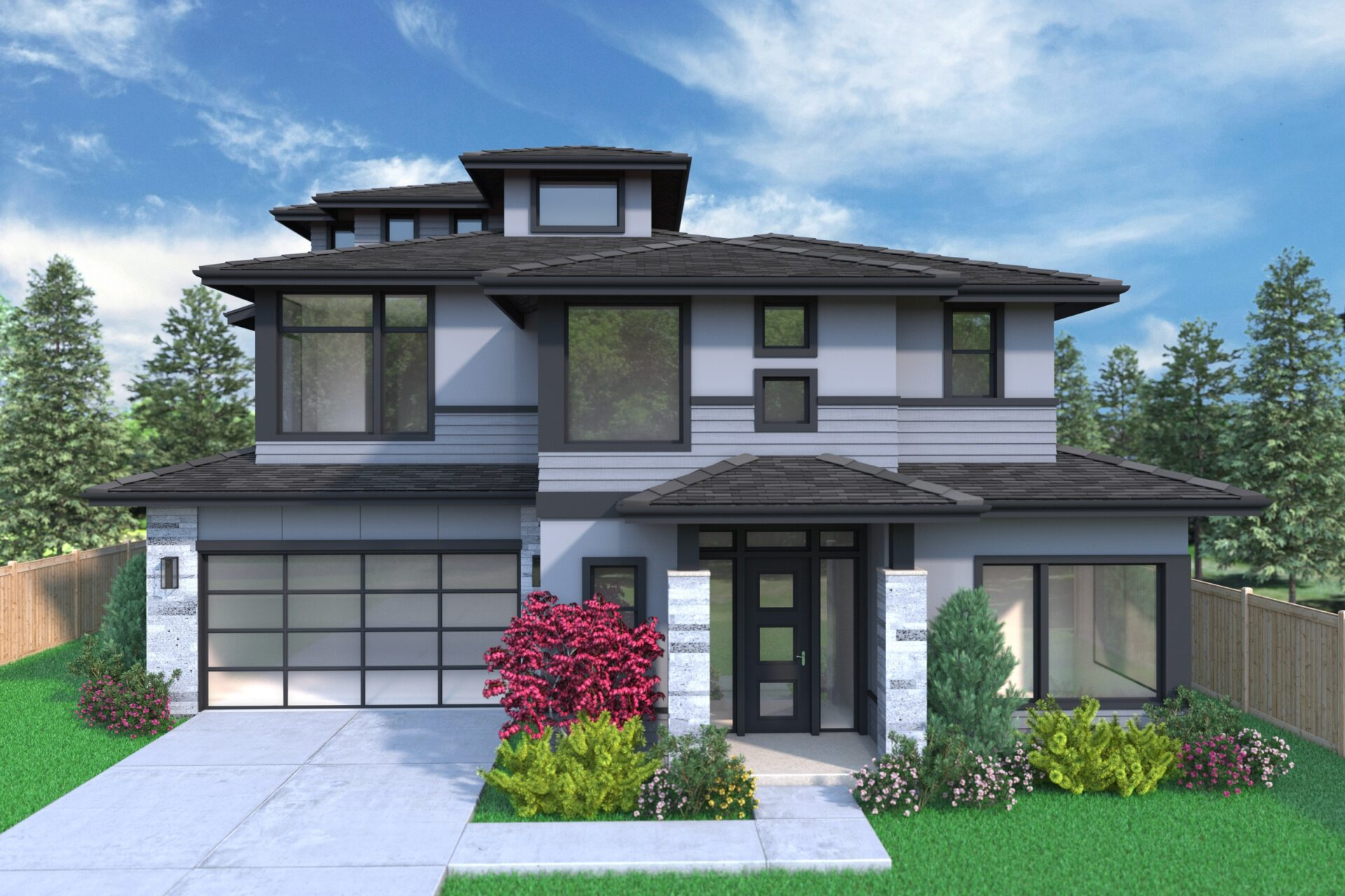 View our new luxury home construction on 1630 166th Ave NE in Bellevue, WA from MN Custom Homes