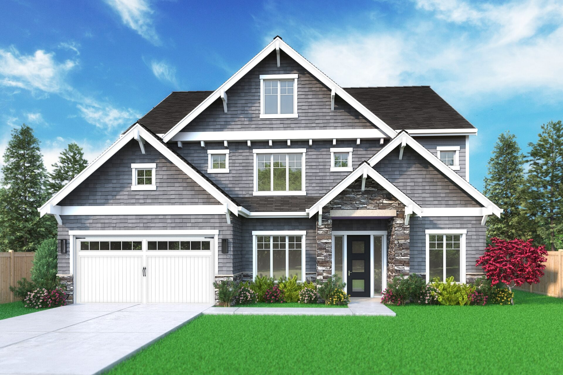 View our new luxury home construction on 17216 NE 15th PL, in Bellevue, WA from MN Custom Homes