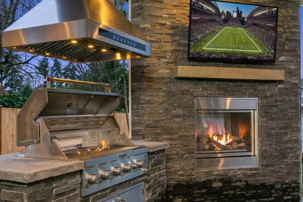 Outdoor grilling & entertainment designed by MN Custom Homes