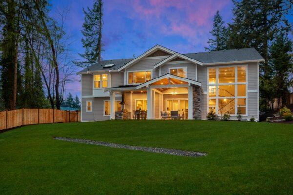 Inviting Backyard Space in MN Custom Homes Property