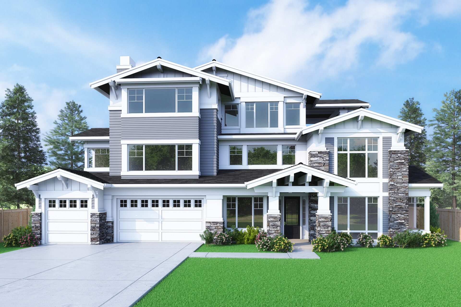 View our new luxury home construction on 9810 NE 15th St, in Bellevue, WA from MN Custom Homes
