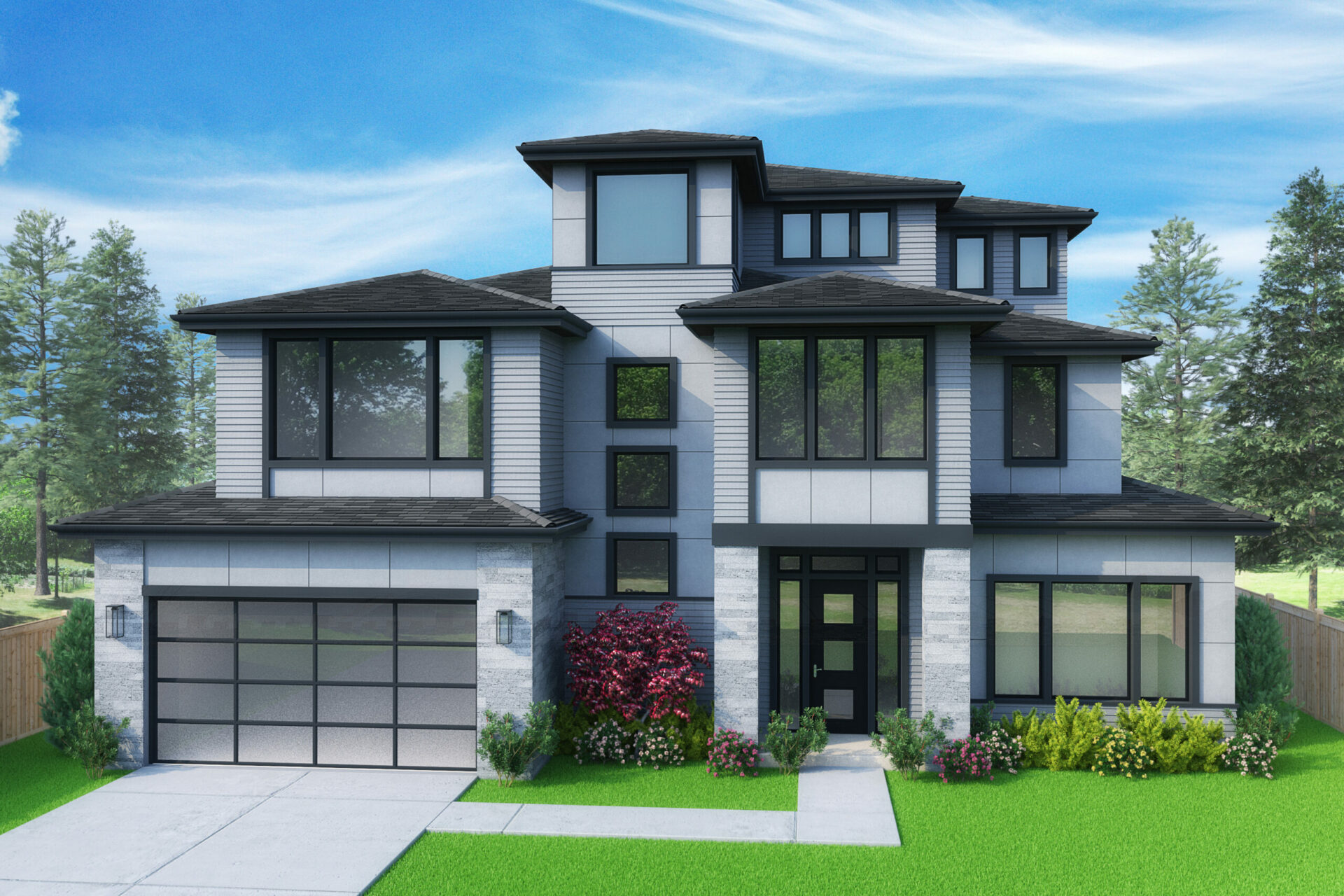 View our new luxury home construction on 10635 NE 26th St, in Bellevue, WA from MN Custom Homes