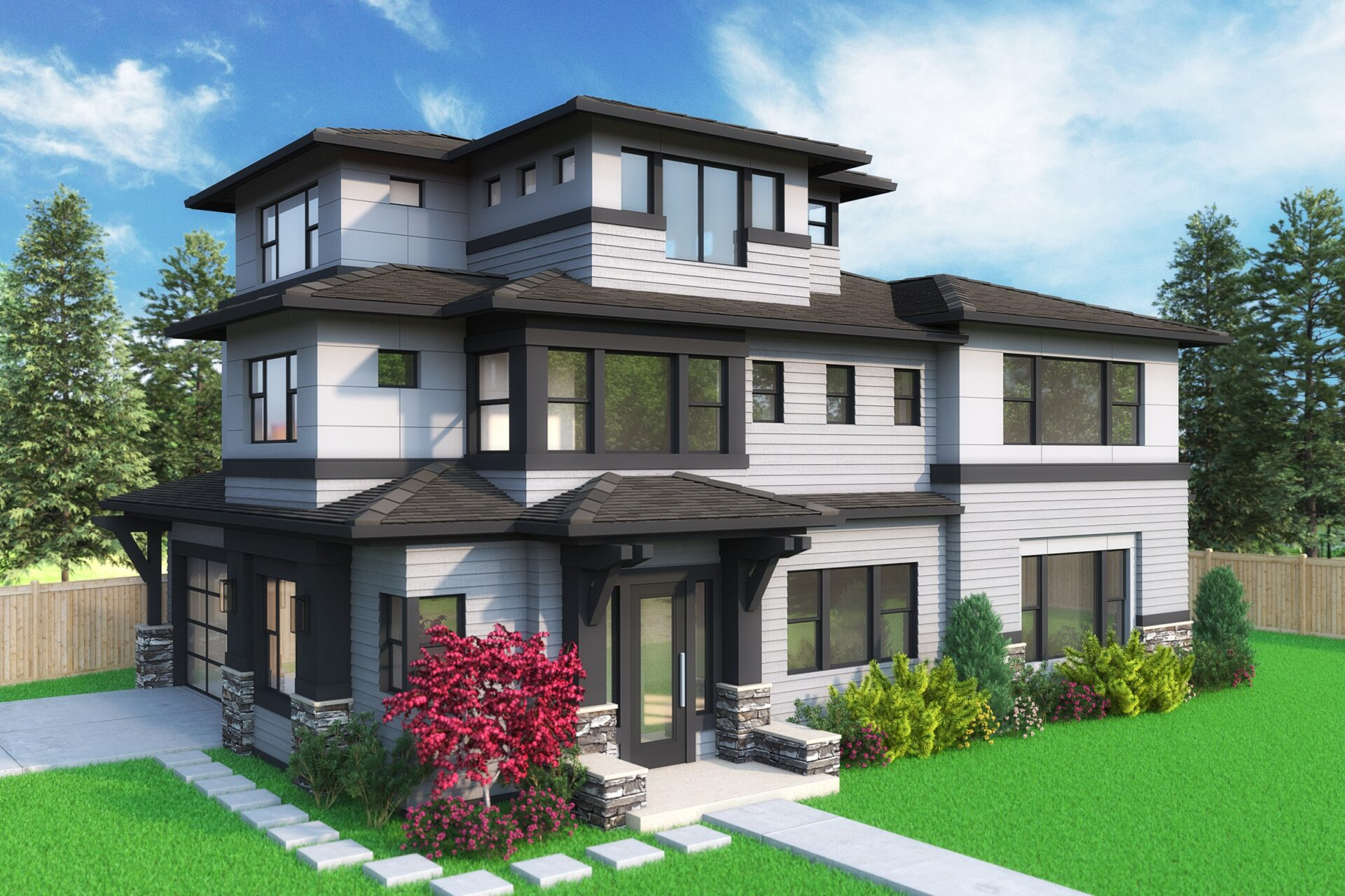 View our new luxury home construction on 16503-NE-13th-St-, in Bellevue, WA from MN Custom Homes