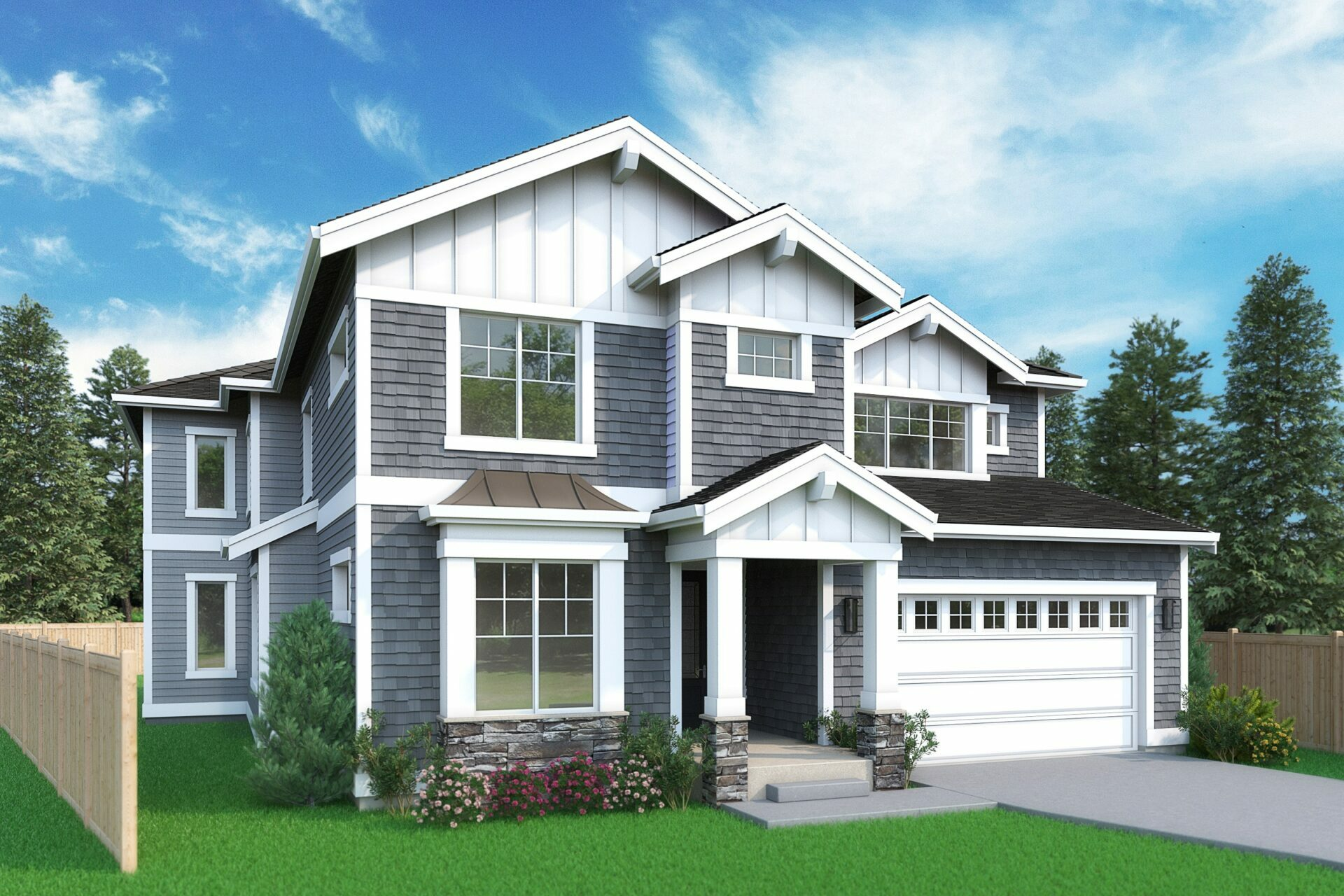 View our new luxury home construction on 902 168th Ave NE, in Bellevue, WA from MN Custom Homes