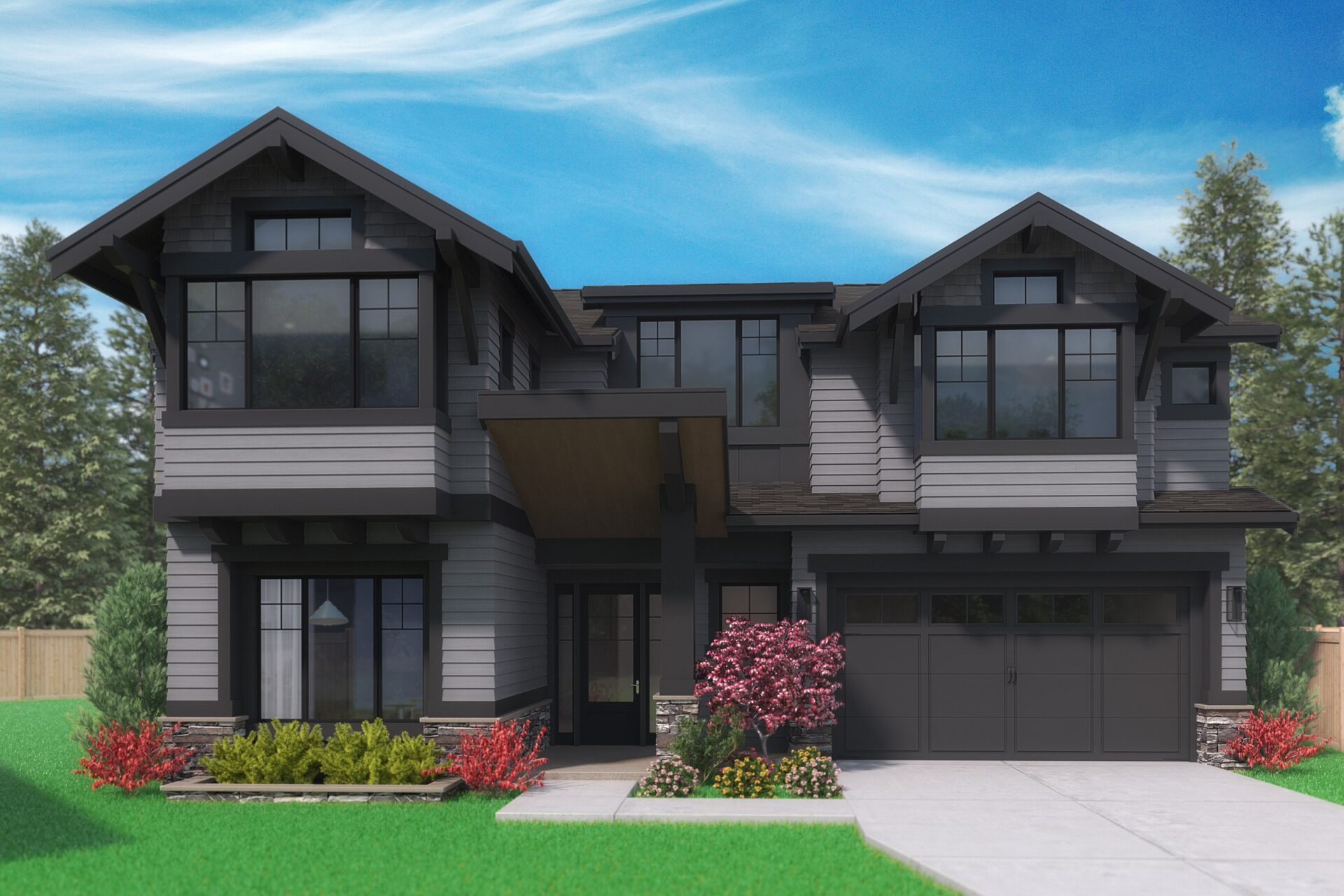 View our new luxury home construction on12845 NE 108th Pl, in Kirkland, WA from MN Custom Home