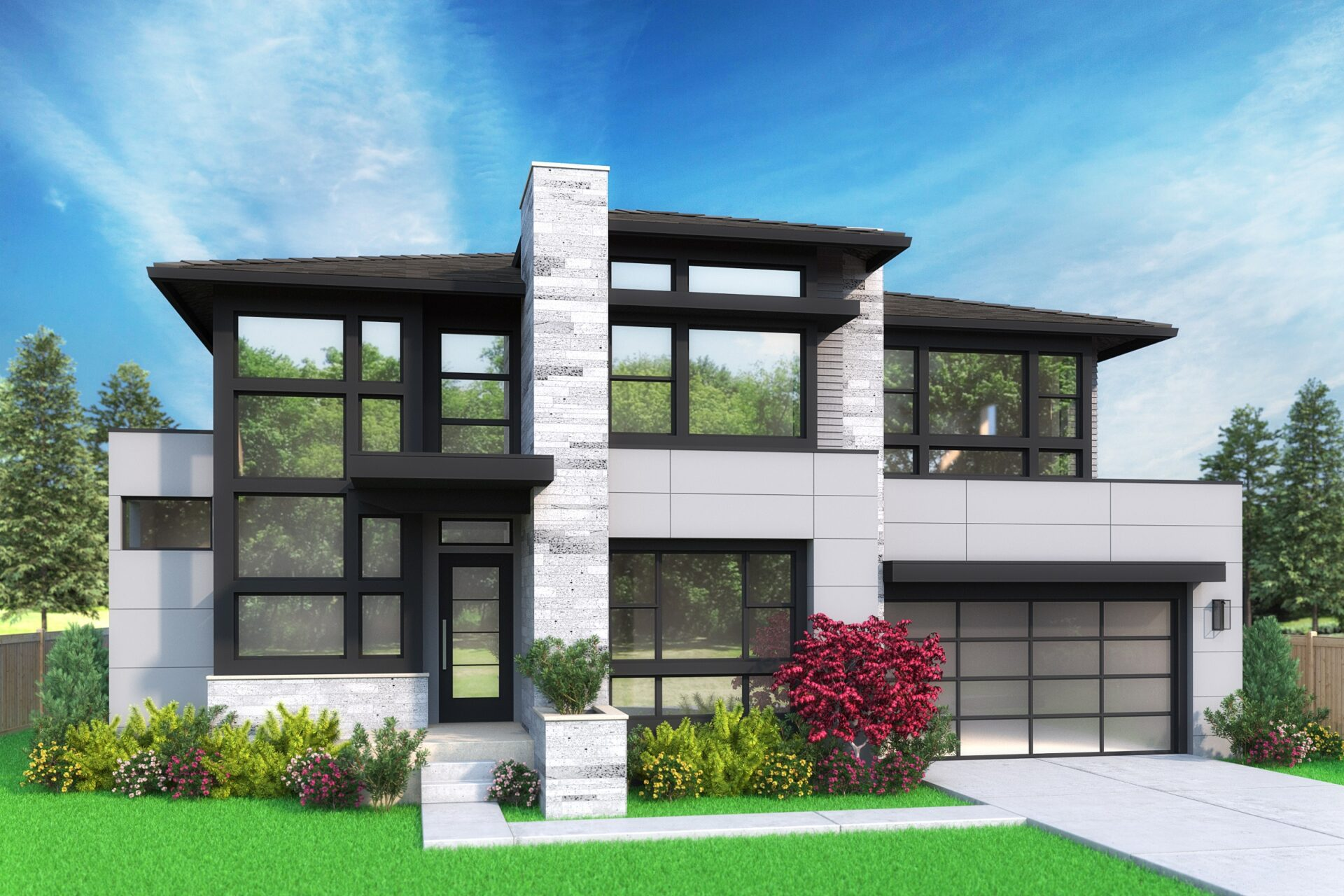 View our new luxury home construction on 451 110th Ave SE, in Bellevue, WA from MN Custom Homes