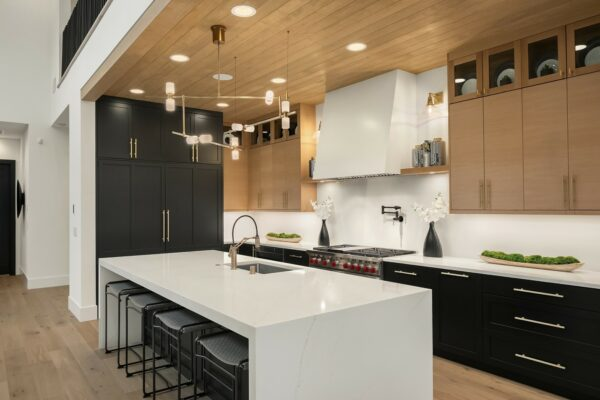 Example of frameless cabinets in a new construction home by MN Custom Homes