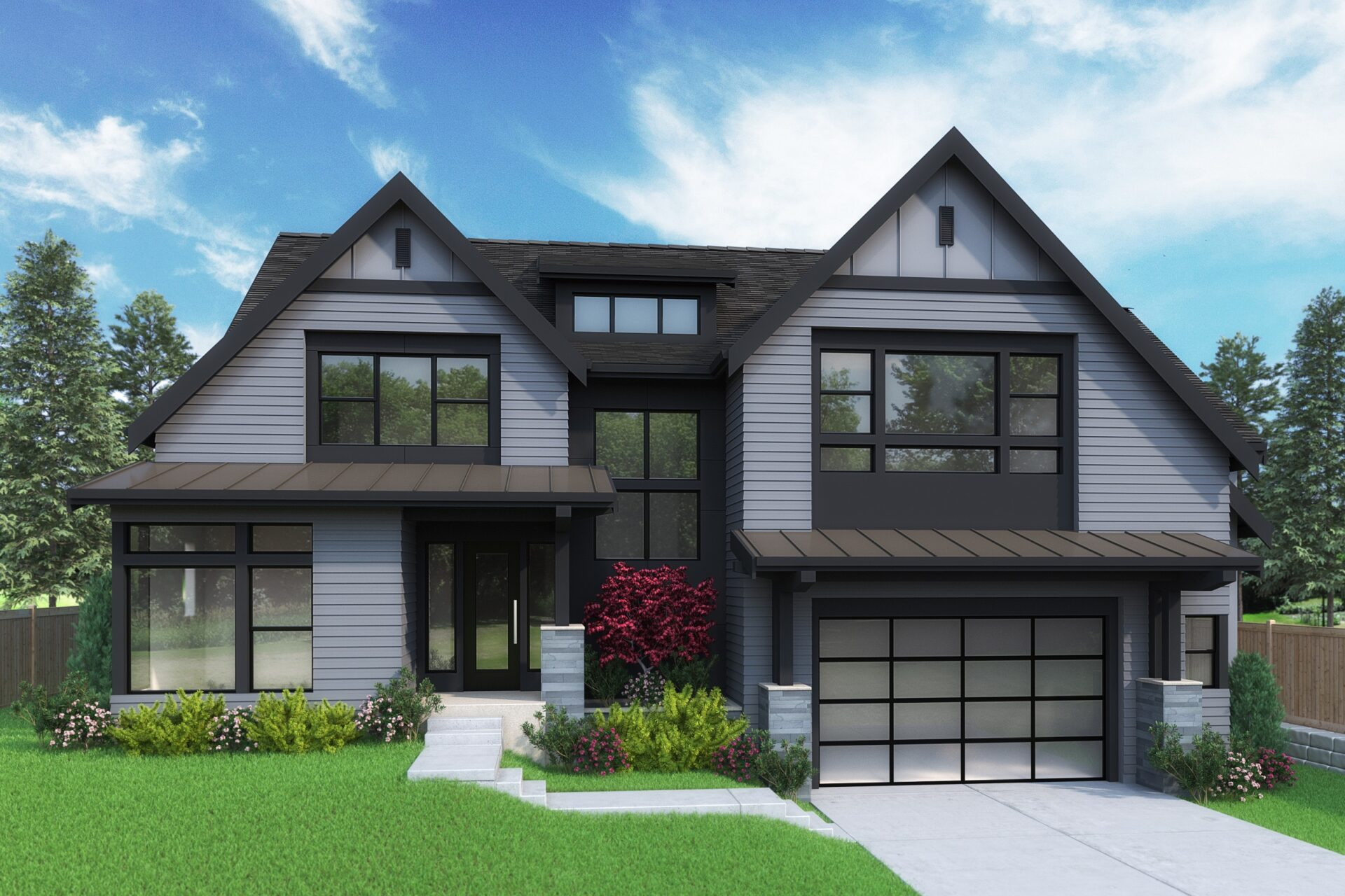 View our new luxury home construction on 16713 SE 2nd Pl, in Bellevue, WA from MN Custom Homes
